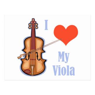 I Love My Viola Postcard