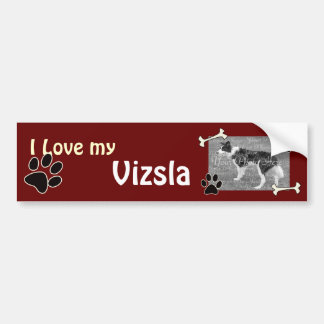 I love my Vizsla Bumper Sticker