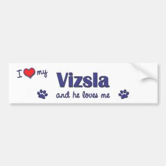 I Love My Vizsla (Male Dog) Bumper Sticker
