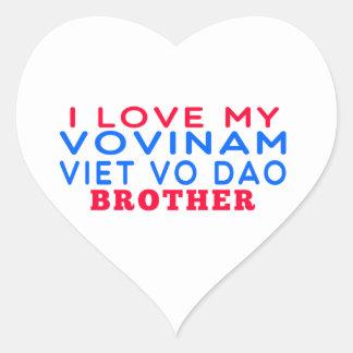 I Love My Vovinam Viet vo Dao Brother Heart Stickers