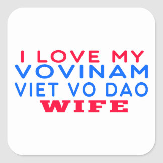 I Love My Vovinam Viet vo Dao Wife Stickers