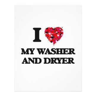 I love My Washer And Dryer 21.5 Cm X 28 Cm Flyer