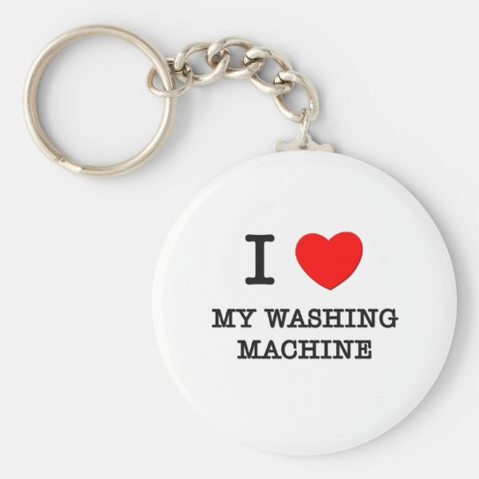 I Love My Washing Machine Basic Round Button Key Ring