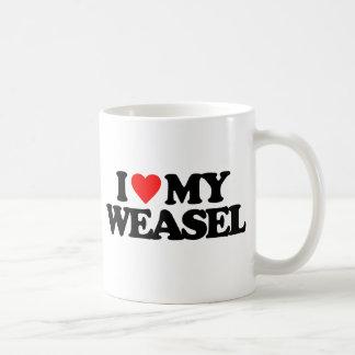 I LOVE MY WEASEL BASIC WHITE MUG