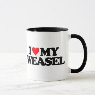 I LOVE MY WEASEL MUG