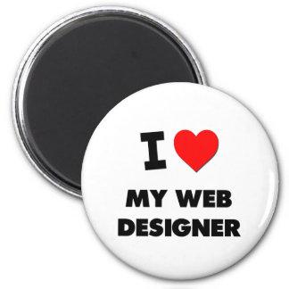I love My Web Designer 6 Cm Round Magnet