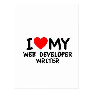 I love my Web Developer Writer Postcards