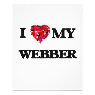 I Love MY Webber 11.5 Cm X 14 Cm Flyer