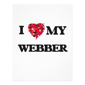 I Love MY Webber 21.5 Cm X 28 Cm Flyer