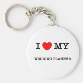 I Love My WEDDING PLANNER Basic Round Button Key Ring