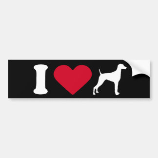 """I Love my Weimaraner"" Bumper Sticker"