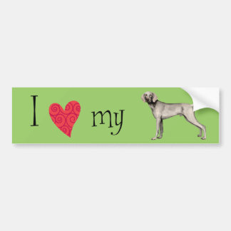 I Love my Weimaraner Bumper Sticker