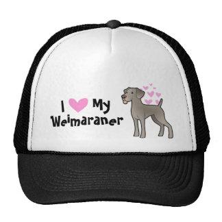 I Love My Weimaraner Cap