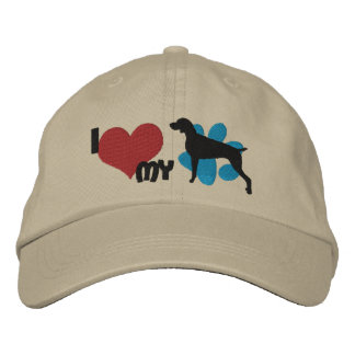 I Love my Weimaraner Embroidered Baseball Cap
