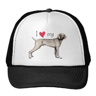 I Love my Weimaraner Hat
