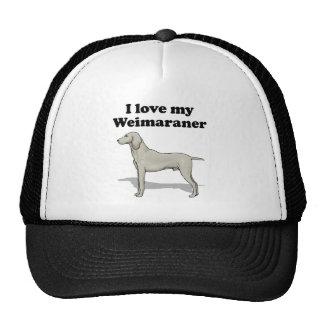 I Love My Weimaraner Mesh Hat