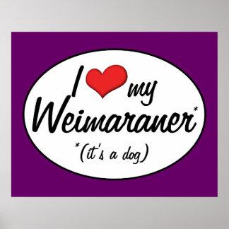 I Love My Weimaraner It s a Dog Print
