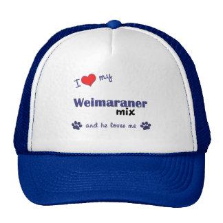 I Love My Weimaraner Mix (Male Dog) Cap