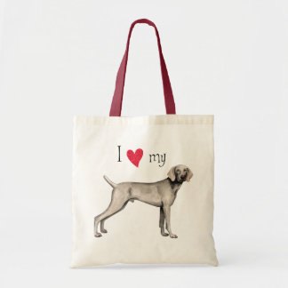I Love my Weimaraner Tote Bag