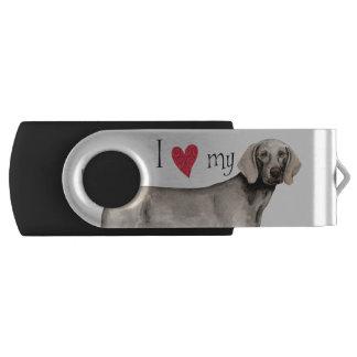 I Love my Weimaraner USB Flash Drive