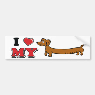I love my Weiner - Dachshund Bumper Stickers