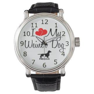 I Love My Weiner Dog Watches