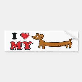 I love My Weiner - Doxie Bumper Sticker