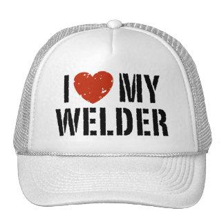 I Love My Welder Mesh Hats