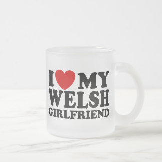 I Love My Welsh Girlfriend Frosted Glass Coffee Mug
