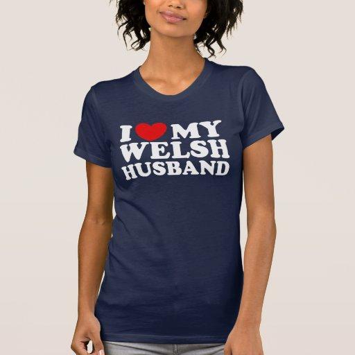 I Love My Welsh Husband T Shirt