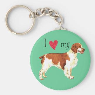 I Love my Welsh Springer Spaniel Basic Round Button Key Ring