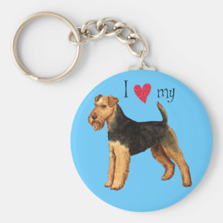 I Love my Welsh Terrier Basic Round Button Key Ring