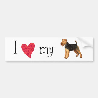 I Love my Welsh Terrier Bumper Sticker