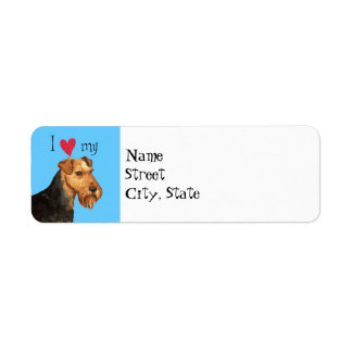 I Love my Welsh Terrier Return Address Label
