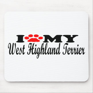 I Love My West Highland Terrier Mousepad