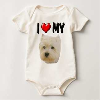 I Love My Westie Baby Bodysuit