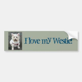 I love my Westie!  Bumper Sticker