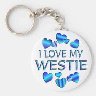 I Love My Westie Key Ring