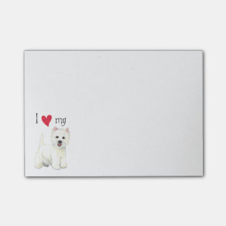 I Love my Westie Post-it Notes
