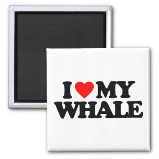 I LOVE MY WHALE MAGNETS