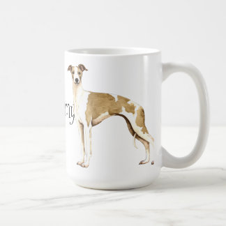 I Love my Whippet Basic White Mug