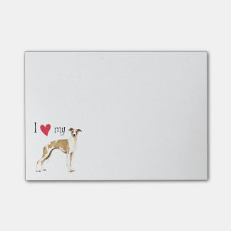 I Love my Whippet Post-it® Notes