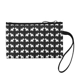 I Love My White Scottie Dog Silhouette Pattern Coin Purse