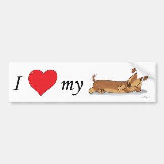 I love my Wiener dog Bumper Sticker
