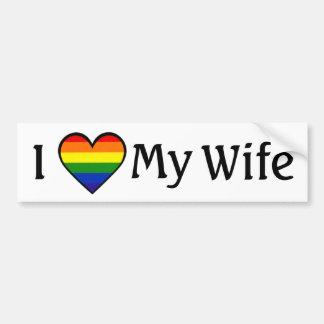 I Love My Wife 3 Lesbian Bumper Sticker