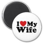 I Love My Wife Fridge Magnet