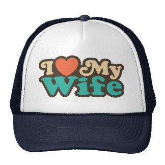 I Love My Wife Mesh Hat