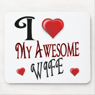 I Love My Wife Logo popular affordable Mouse Pad