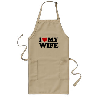 I LOVE MY WIFE LONG APRON