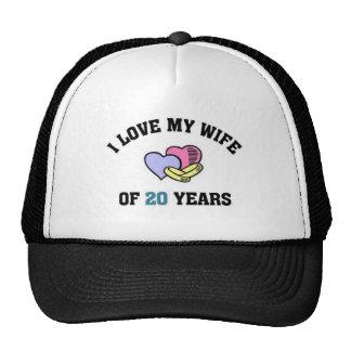 I love my wife of 20 years cap